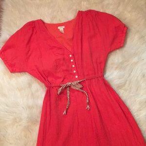 J. Crew 100% Cotton V-Neck Summer Dress